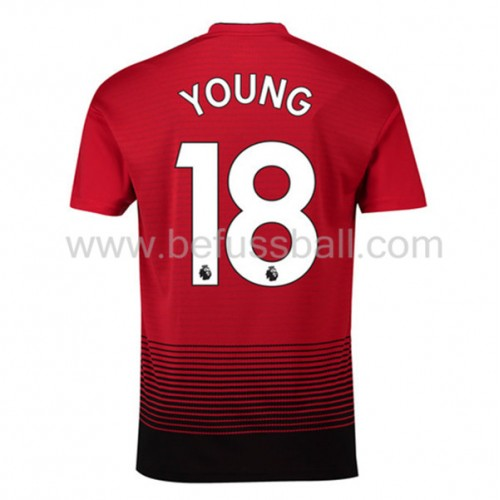Manchester United Ashley Young 18 Heimtrikot Kurzarm 2018-19