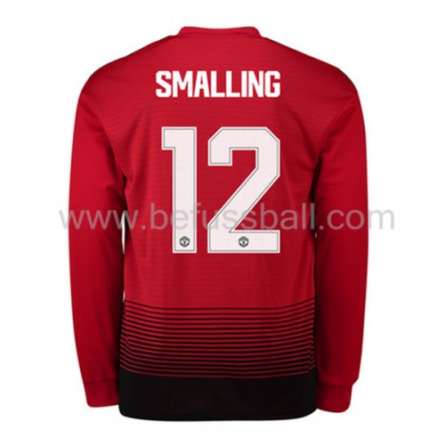 Manchester United Chris Smalling 12 Heimtrikot Langarm 2018-19