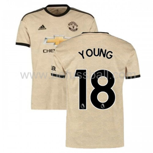 Manchester United 2019-20 Ashley Young 18 Auswärtstrikot Kurzarm
