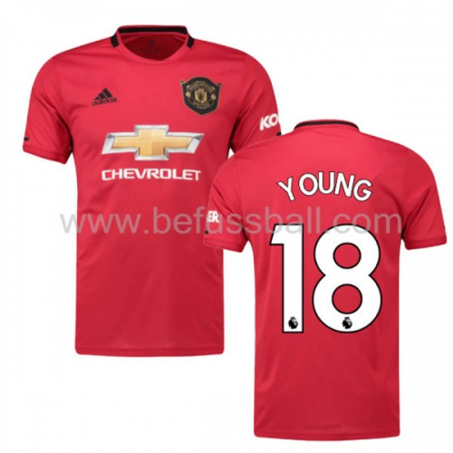 Manchester United 2019-20 Ashley Young 18 Heimtrikot Kurzarm