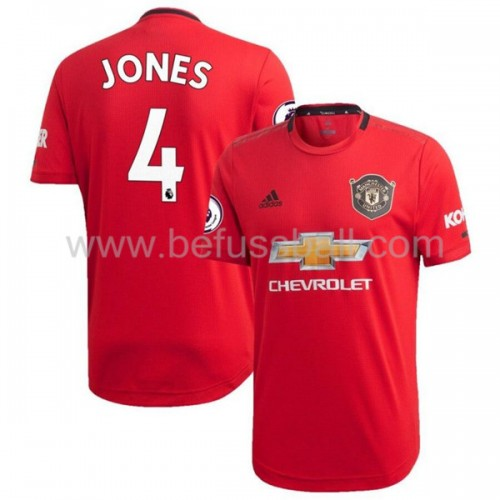 Manchester United 2019-20 Phil Jones 4 Heimtrikot Kurzarm
