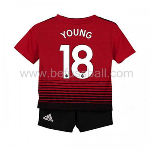 Fußballtrikots Kinder Manchester United 2018-19 Ashley Young 18 Heimtrikot Kurzarm