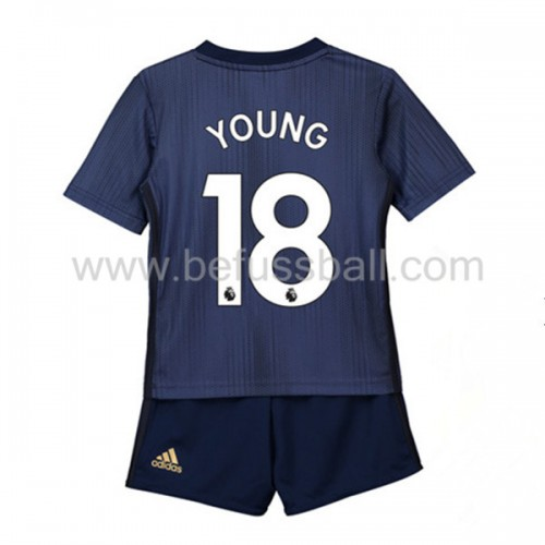 Fußballtrikots Kinder Manchester United 2018-19 Ashley Young 18 3rd Trikot Kurzarm