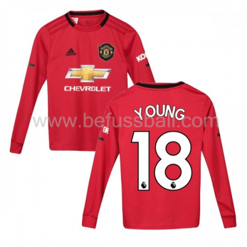 Fußballtrikots Kinder Manchester United 2019-20 Ashley Young 18 Heimtrikot Langarm