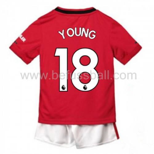 Fußballtrikots Kinder Manchester United 2019-20 Ashley Young 18 Heimtrikot Kurzarm
