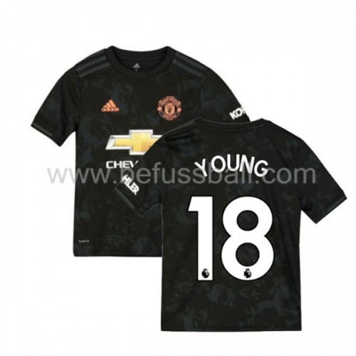 Fußballtrikots Kinder Manchester United 2019-20 Ashley Young 18 3rd Trikot Kurzarm