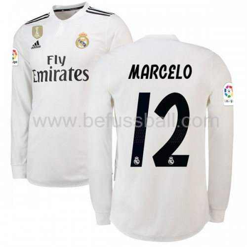 Real Madrid Marcelo Junior 12 Heimtrikot Langarm 2018-19