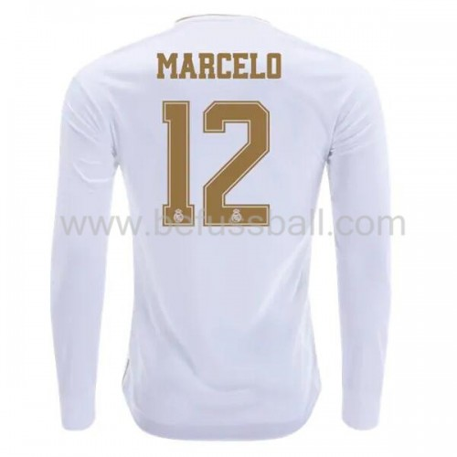 Real Madrid 2019-20 Marcelo Junior 12 Heimtrikot Langarm