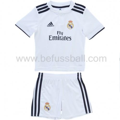 Fussballtrikots Kinder Real Madrid 2018 19 Heimtrikot Kurzarm