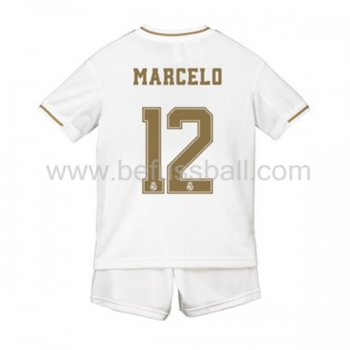 Fußballtrikots Kinder Real Madrid 2019-20 Marcelo Junior 12 Heimtrikot Kurzarm